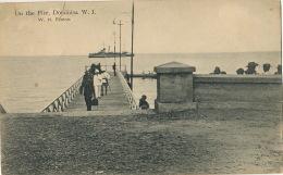 Dominica On The Pier W.I. Ship W.H. Fanton American War Ship 1915  Edit Augustus Emmanuel - Dominique
