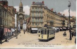 Le Havre - Rue Thiers Et L'église Saint Michel - Le Havre