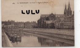 DEPT 59 : Dunkerque , Le Canal Et L église SSaint Martin - Dunkerque