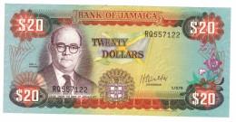 Jamaica, 20 Dollars 1979, UNC. Rare, Free Ship. To USA - Jamaica