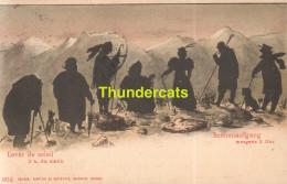 CPA ILLUSTRATEUR ARTIST SIGNED SILHOUET CARD CARTE SILHOUETTE  COMPTOIR NEUFCHATEL SUISSE - Silhouettes
