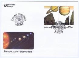 Faroe Islands; 2009 Europa - CEPT.  Set Of 2 On FDC - Islas Faeroes