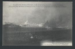 CPA - ANVERS - ANTWERPEN - Grève Des Dockers - Scierie Van Huffelen & Smeurs En Feu - Werkstaking - Zagerij In Brand  // - Antwerpen