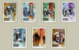 Hungary 1982. Space 25. Annoversary Nice Set MNH (**) Michel: 3557-2563 / 5 EUR - Ungebraucht