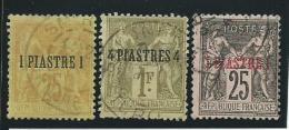 LEVANT: Obl., N°1 + 3 + 4, AB - Levant (1885-1946)
