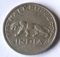 MONEDA DE MEDIA RUPIA DE LA INDIA DE 1947 - India