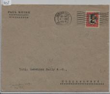 Pro Juventute 1925 J35 Von Winterthur Nach Schönenwerd Bally AG - Pro Juventute