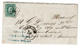 30 Lettre Obl LP 196 Jemappes Vers Farciennes   Verso  Farciennes - 1869-1883 Léopold II