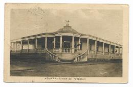 ASMARA CIRCOLO DEI FUNZIONARI VIAGGIATA FP MANCA F.BOLLO - Erythrée