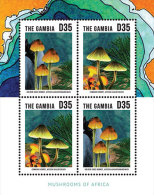 GAMBIA ; SCOTT # 3528 ; IGPC1332 SH ; MINT N.H STAMPS ( MUSHROOMS - Gambia (1965-...)