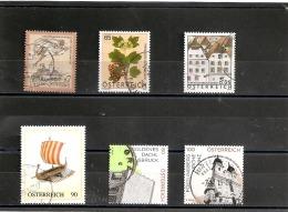6  Timbres Oblitérés Différents - 1945-.... 2ª República