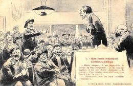 [DC2968] CPA - HUMOR - NOS BONS PAYSANS - CONFERENCE POLITIQUE - Non Viaggiata 1919 - Old Postcard - Humor