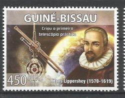 Guinea Bissau Hans Lippershey Telescope Inventor Astronomy 1v Stamp MNH 8502 Michel 3932 - Non Classés