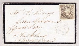 OZ Australien NSW 1860 SG#143 Graubraun Brief Nach Neuseeland - 1850-1906 New South Wales
