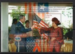 2009 Liberia  US President  Bush Meeting  Miniature Sheet Complete  MNH - Liberia