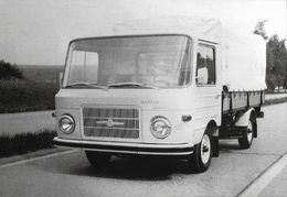 Barkas B 1100 Prototyp Pritschenwagen Auf Erprobungsfahrt - Eine B.B. Karte Aus Sachsen - Camions & Poids Lourds