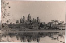 Carte Photo Prise Par Un Marin Du Cargo AUGUSTE PAVIE Messageries Maritimes 1948 Cambodge Angkor - Kambodscha