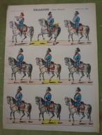 Imagerie D'Epinal - DRAGONS (Armée Allemande) - Planche D'uniforme Par Pellerin & Cie à Epinal N°698 - Stampe & Incisioni