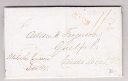 Kanada 20.11.1843 Kingston Vorphila Brief Nach Guelph - Kanada