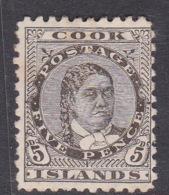 Cook Islands SG 9 1893 5d Olive Black Mint - Cook