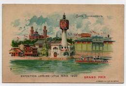 CARTE POSTALE LU Goossens Exposition Lefèvre-Utile Paris 1900 Grand Prix Carte Transparente - Publicité