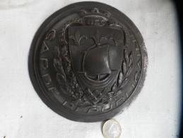Ancien Cabochon Bronze Logo GARDE REPUBLICAINE De PARIS - Militaria