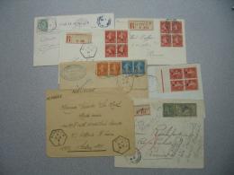 France - 7 Lettres Dont Recommandées - Cachets Hexagones De Recettes Auxiliaires Urbaines (RAU) - N° 146 Et Divers - Marcophilie (Lettres)