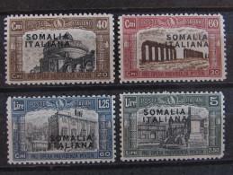 """ITALIA Somalia -1927- """"Milizia I Sopr."""" Cpl. 4 Val. MH* (descrizione) - Somalia"""