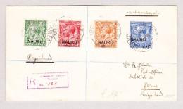 OZ NAURU 21.3.1918 R-Brief Nach Bern Schweiz - Nauru