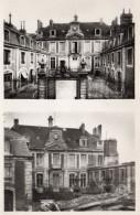 3201. CPA 2 VUES 14 LISIEUX. AVANT ET APRES BOMBARDEMENT. HOTEL DE VILLE - Lisieux