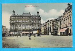 Belgique-Liege-Place Verte-cpa Couleur - Liege