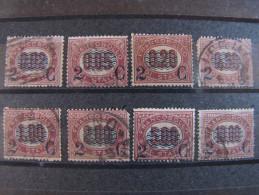 """ITALIA Regno-1878- """"Ondine"""" Cpl. 8 Val. US° DIF. (descrizione) - 1861-78 Vittorio Emanuele II"""