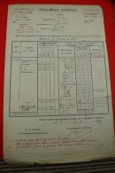 FOURRAGE CHEVAUX 1927 DOCUMENT Militaire Mchal Logis Chef Rossignol>14e Légion Gendarmerie Cie Drôme  GRENOBLE ISERE - Documents