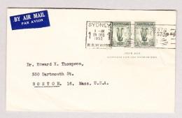 Australien NSW 29.12.1952 Sydney Luftpost Brief Nach Boston GB - 1850-1906 New South Wales