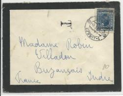 YOUGOSLAVIE - 1934 - TIMBRE SURCHARGE Sur ENVELOPPE TAXEE De SPLIT Pour BUZANCAIS (INDRE) - 1931-1941 Kingdom Of Yugoslavia