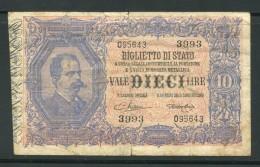 ITALIE- Billet En Bon état - Italië – 10 Lire