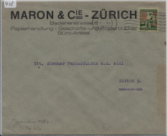 Pro Juventute 1927 J42 Pestalozzi - Maron & Cie Zürich - Pro Juventute