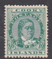 Cook Islands  SG 19 1900 10 D Green Mint - Cook