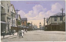 British Guiana Guyana Georgetown Water Street Edit Bookers Bros Demerara - Postcards