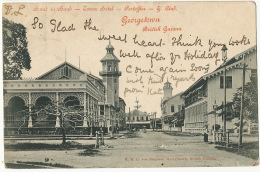 British Guiana Guyana Georgetown Hand In Hand Tower Hotel Post Office Guiana Club Edit Von Ziegesar Used 1904 UK - Postcards