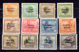 Vloors, 50 / 61**, Cote 150 €, - Ruanda-Urundi