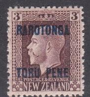 Cook Islands  SG 49 1919 3 D Chocolate MNH - Cook