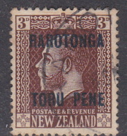 Cook Islands  SG 49 1919 3 D Chocolate Used - Cook Islands