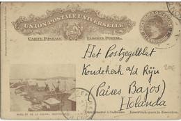 URUGUAY - 1909 - CARTE ENTIER POSTAL ILLUSTREE De MONTEVIDEO  Pour KOUDEKERK (HOLLANDE) - Uruguay