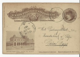 URUGUAY - 1907 - CARTE ENTIER POSTAL ILLUSTREE De MONTEVIDEO  Pour KOUDEKERK (HOLLANDE) - Uruguay