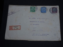 ALLEMAGNE -  Enveloppe En Recommandée De Rothenburg Pour Alger En 1934 - Affranchissement Tricolore - A Voir - L22 - Storia Postale