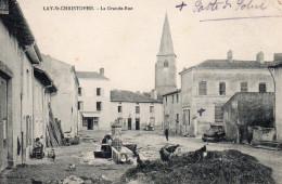 3226. CPA 54 LAY SAINT CHRISTOPHE. LA GRANDE RUE - Francia
