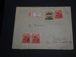 HONGRIE -  Enveloppe En Recommandée De Kassa En 1939 - Affranchissement Timbres Surchargés - A Voir - L24 - Storia Postale