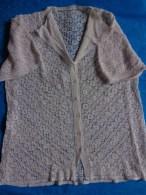 Tricot Crochete Boutons De Nacre -epaule A Epaule 40cm-belle Realisation - Autres