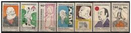 Cecoslovacchia/Tchécoslovaquie/Czechoslovakia: Hemingway, Capek, Shaw, Gorkij, Picasso, Yooyama, Chaplin - Famous People